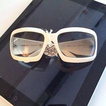 Chanel Mother of Pearl 5076-H White Sunglasses. Missing One Logo Photo