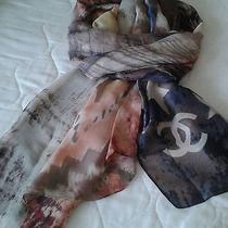 Chanel Multi Color Art Silk Blend Scarf Photo