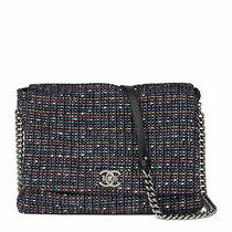 Chanel Multicolour Tweed Fabric Messenger Flap Bag  Hb3447 Photo