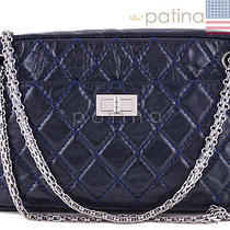 Chanel Navy Blue Classic 2.55 Reissue Camera Case Bag 61027 Photo