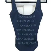 Chanel Nwt Authentic Navy One Piece Swimsuit Photo