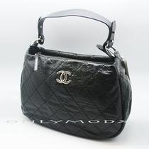 Chanel on the Road Jumbo Black Hobo Bag Purse Handbag New Maxi Photo
