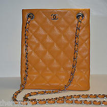 Chanel Orange Quilted Caviar Leather Small Chain Shoulder/messenge  Bag Photo