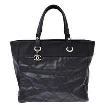 Chanel Paris Biarritz Tote Mm Black Bags 800000083247000 Photo