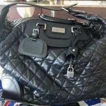 Chanel Paris New York Black Distressed Lambskin Leather Hobo Travel Bag Luggage Photo