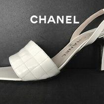 Chanel Patent White Patent Leather Sandals  Sz. 40/10 ( With Box) Photo