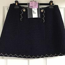 Chanel Pre-Fall 2015 Paris-Salzburg New Tags Tweed Blue Gold Skirt Fr42 5.3k Photo