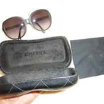 Chanel Quilted Frame Black Jackie O Style 5232-Q Sunglasses/case/box/pamphlet Photo