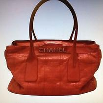 Chanel Red Leather Tote Photo