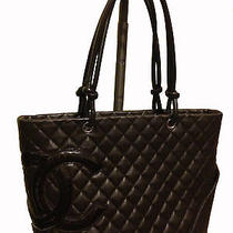 Chanel Restored 100%  Brown Leather Large Tote With Hot Pink Lining (2013) Photo