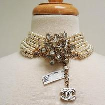 Chanel Runway Pearl Gripoix Cc Glass Camellia Belt or Necklace New in Box Photo