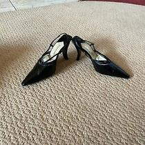Chanel Sandals 37.5 Black Leather Photo