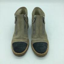 Chanel Shoe Size 39 Beige & Navy Booties Photo