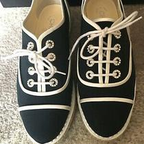 Chanel Shoes Lace Up Sneakers - Size 38 ( 8) Nib Photo