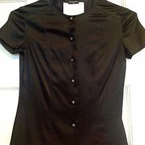 Chanel Silk Blouse Size 34 Solid Black Photo