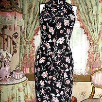 Chanel Silk Dress Silk Lined Sz Fr 36 Clover Flowers 'Chanel' & 'Coco' Print  Photo