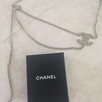 Chanel Silver Belt Necklace Photo