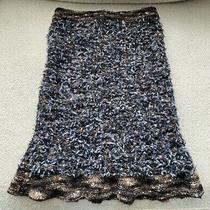 Chanel Skirt in Grey/brown/black Textured Fabric With Flirty Flared Hem Unworn Photo