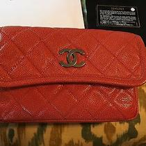 Chanel Small Dark Orange Flap Bag Crossbody Excellent Condition Photo
