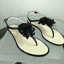 Chanel Sneakers Black Camellia Sandals Black 38. Brand New Photo