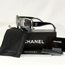 Chanel Stunning Black Mother of Pearl Cc' Design Sunglasses 5183 W/box Etc. Photo