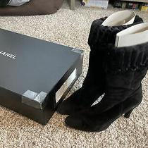 Chanel Suede Short Boots - Size 38 Photo