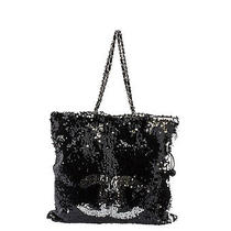 Chanel Summer Night Black & Silver Sequin Tote Bag Photo