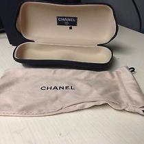 Chanel Sunglass Case Black With Microfiber Case  Photo