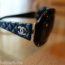 Chanel Sunglasses 790usd Quilted Black Leather 5116-Q. C501/11 6315 120 2n  Photo