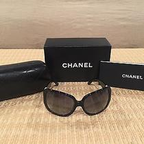 Chanel Sunglasses Black With White and Black Cc Auth  Photo
