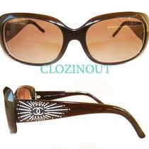 Chanel Sunglasses Coco Chanel 6026-B C.538/13 Rhinestones Executive Sunglasses Photo