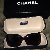 Chanel Sunglasses Mother of Pearl Brown Excellent Condition From Bloomingdales Photo