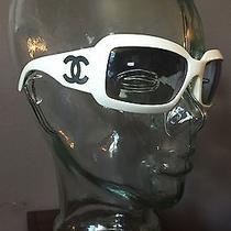 Chanel Sunglasses White Mother of Pearl 5076 H Classic Designer Cc Logo  Photo