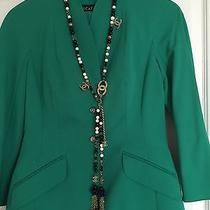 Chanel Tassel Necklace - Cc Pearl Silver Chain Bead Charm Pendant Fringe Belt Photo