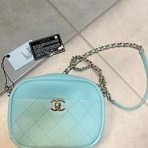 Chanel Tiffany Blue Camera Case Medium Goatskin Bag Photo