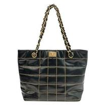 Chanel Tote Bag Leather Ghw Black Used Photo