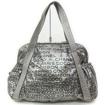 Chanel Tote Bag Unlimitedlogo Silver Vinyl 1413784 Photo