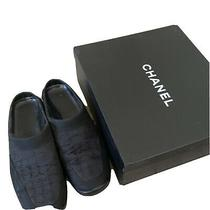 Chanel Travelline Slip- on Sliders Sneakers Driving Shoes Size 37 Photo