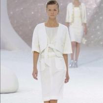 Chanel Tweed Summer 2012 White Cropped Jacket Photo