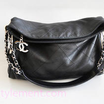 Chanel Ultimate Soft Black Lambskin Hobo- Euc Mprs Photo