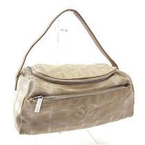 Chanel Vanity Bag Cosmetics Pouch Women New Travel Line System Silver Nylon Photo