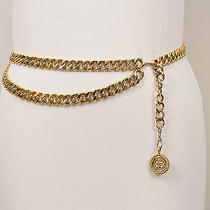 Chanel Vintage 90's Chunky Gold Chain Logo Medallion Belt/necklace Sz 90/36 M/l Photo