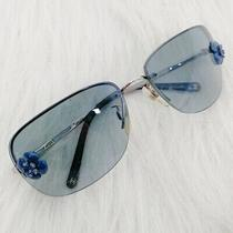 Chanel Vintage 90s Blue Camellia Sunglasses Photo