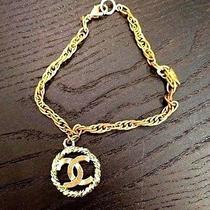 Chanel Vintage Bracelet With Cc Charm  Photo