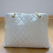 Chanel Vintage Ivory Caviar Quilted Shopper  2.55 Gold Hardware Coco Chanel  Photo