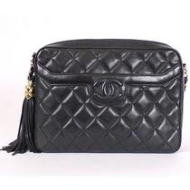 Chanel Vintage Quilted Lambskin Tassel  Camera Bag   100 % Authentic   Photo