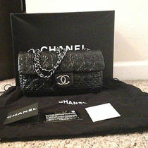 Chanel Vinyl Rock in Moscou Moscow Classic Flap Purse Black Photo