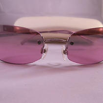 Chanel Violet Sunglasses With Double c's on Lens Photo