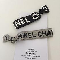 Chanel Vip Gift Elastic Hair Ties / Wrist Bands Sliver & Black Photo
