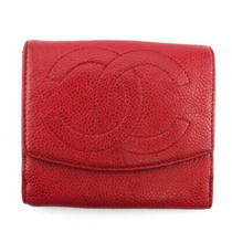 Chanel W Hook Purse Here Mark Caviar Skin Auth Used T18786 Photo